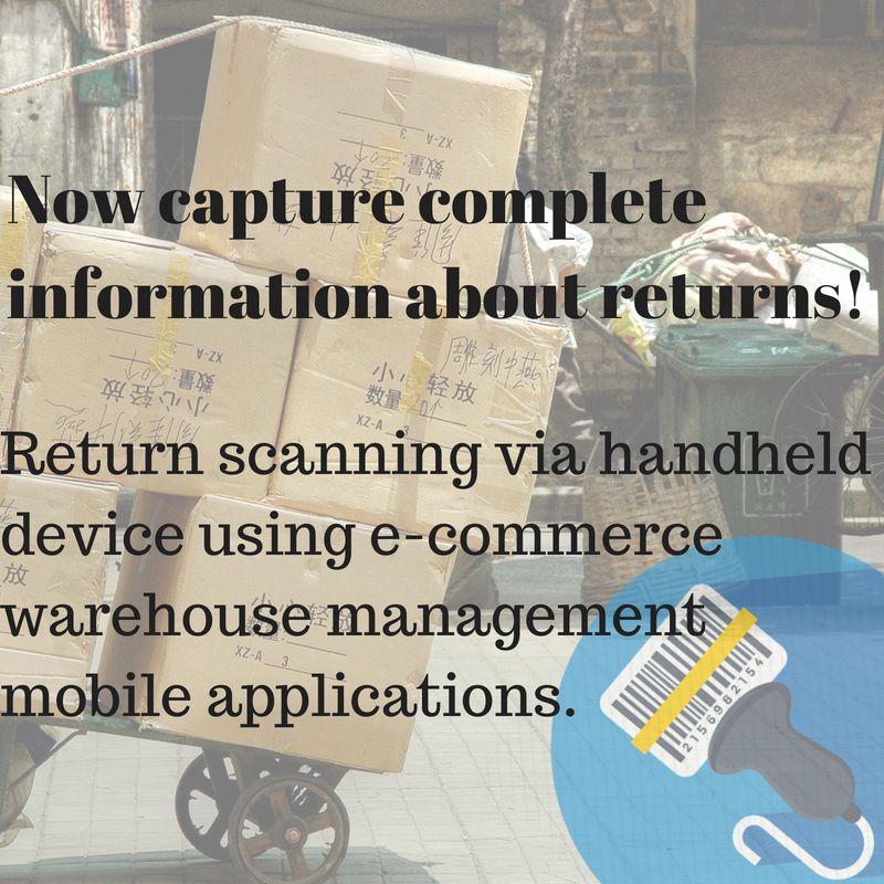 Manage returns via Unicommerce mobile Applications